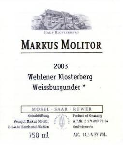 markus molitor weissburgunder 2003