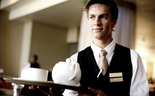 Room Service Waiter Name Tag